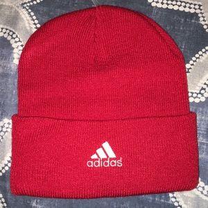 Adidas Red Kids beanie